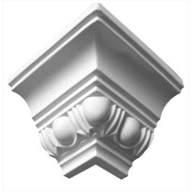 American Pro Decor 5APD10052 2.75 in. Egg And Dart Crown Moulding Outside Corner