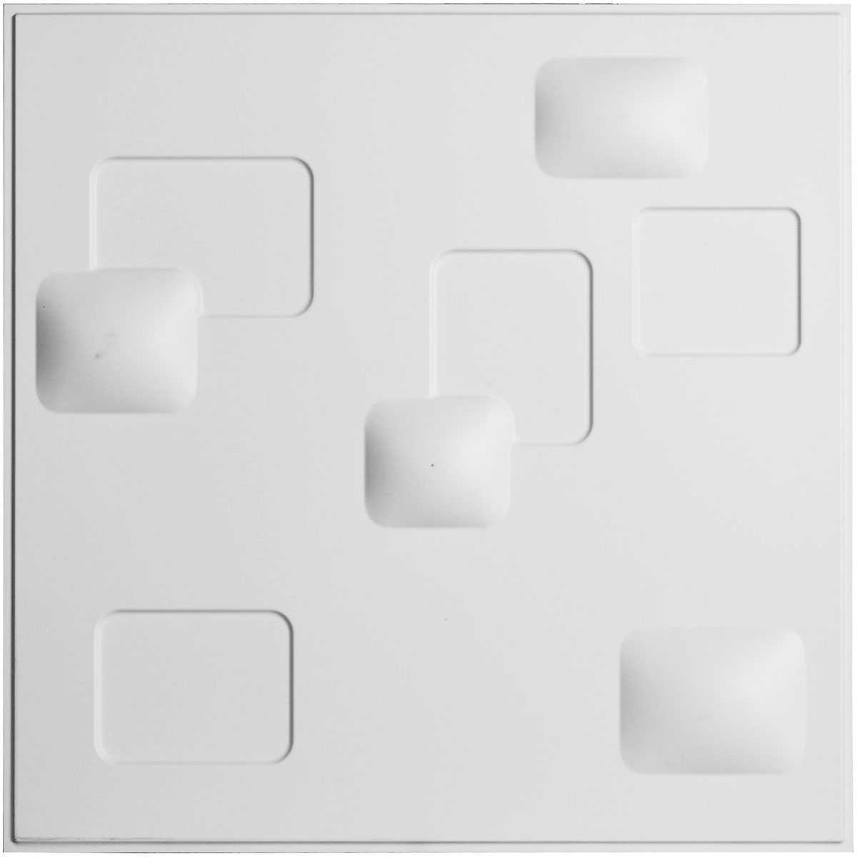 19 5/8'W x 19 5/8'H Avila EnduraWall Decorative 3D Wall Panel, White