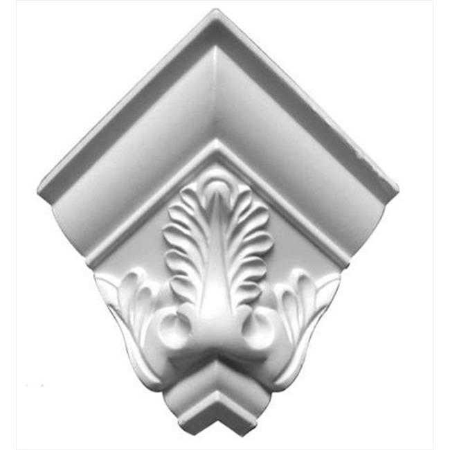 American Pro Decor 5APD10058 3.12 in. Acanthus Crown Moulding Outside Corner