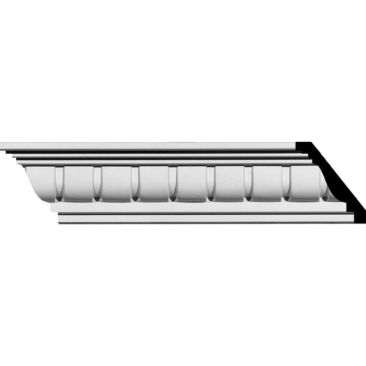 Ekena Millwork Sequential 2 5/8''H x 94 5/8''W x 2 3/4''D Crown Moulding