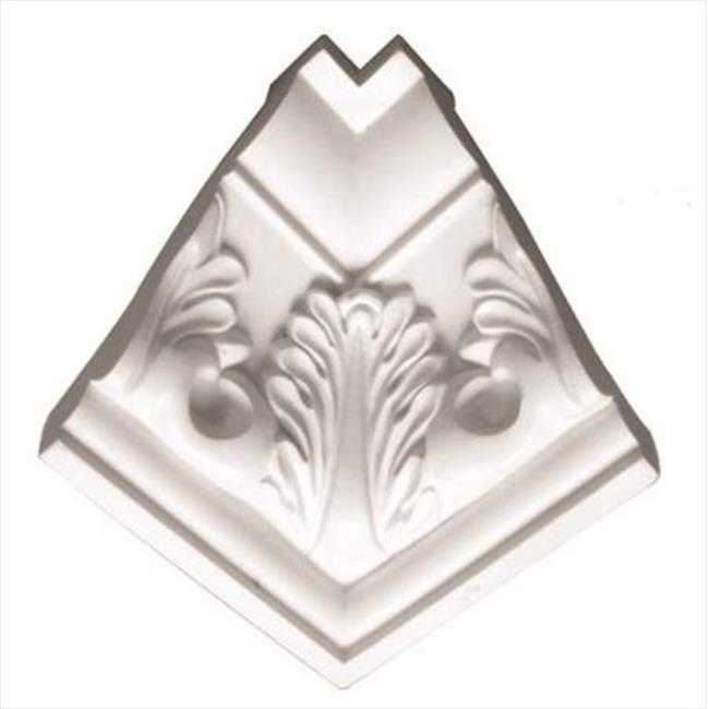 American Pro Decor 5APD10057 3.12 in. Acanthus Crown Moulding Inside Corner