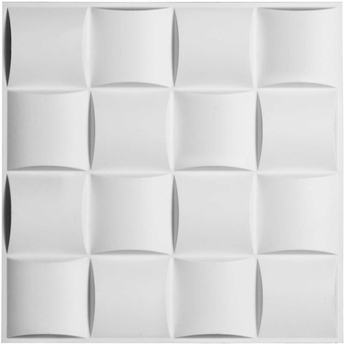 19 5/8'W x 19 5/8'H Baile EnduraWall Decorative 3D Wall Panel, White