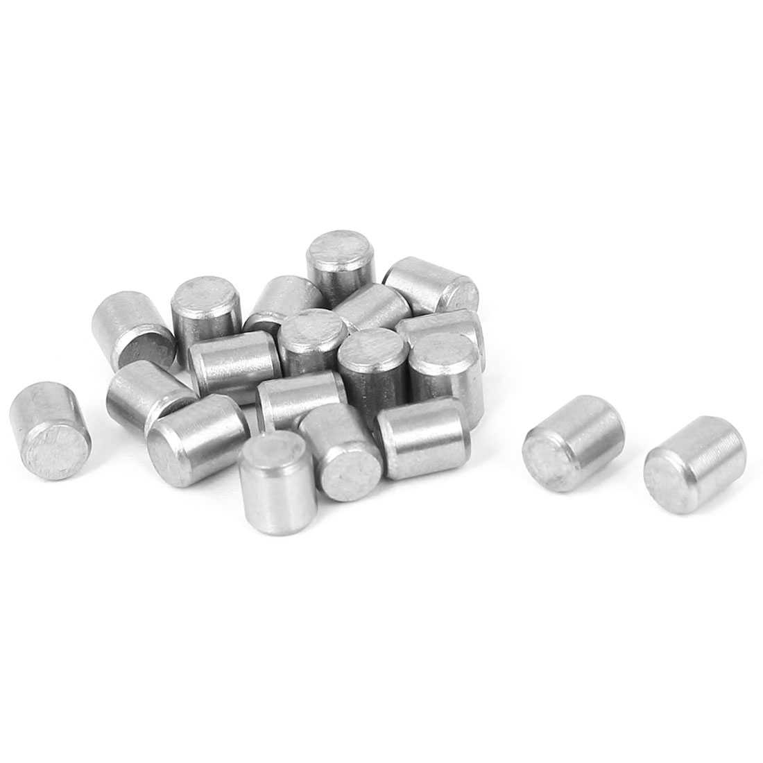 M5x6mm Stainless Steel Parallel Dowel Pins Fastener Elements 20pcs
