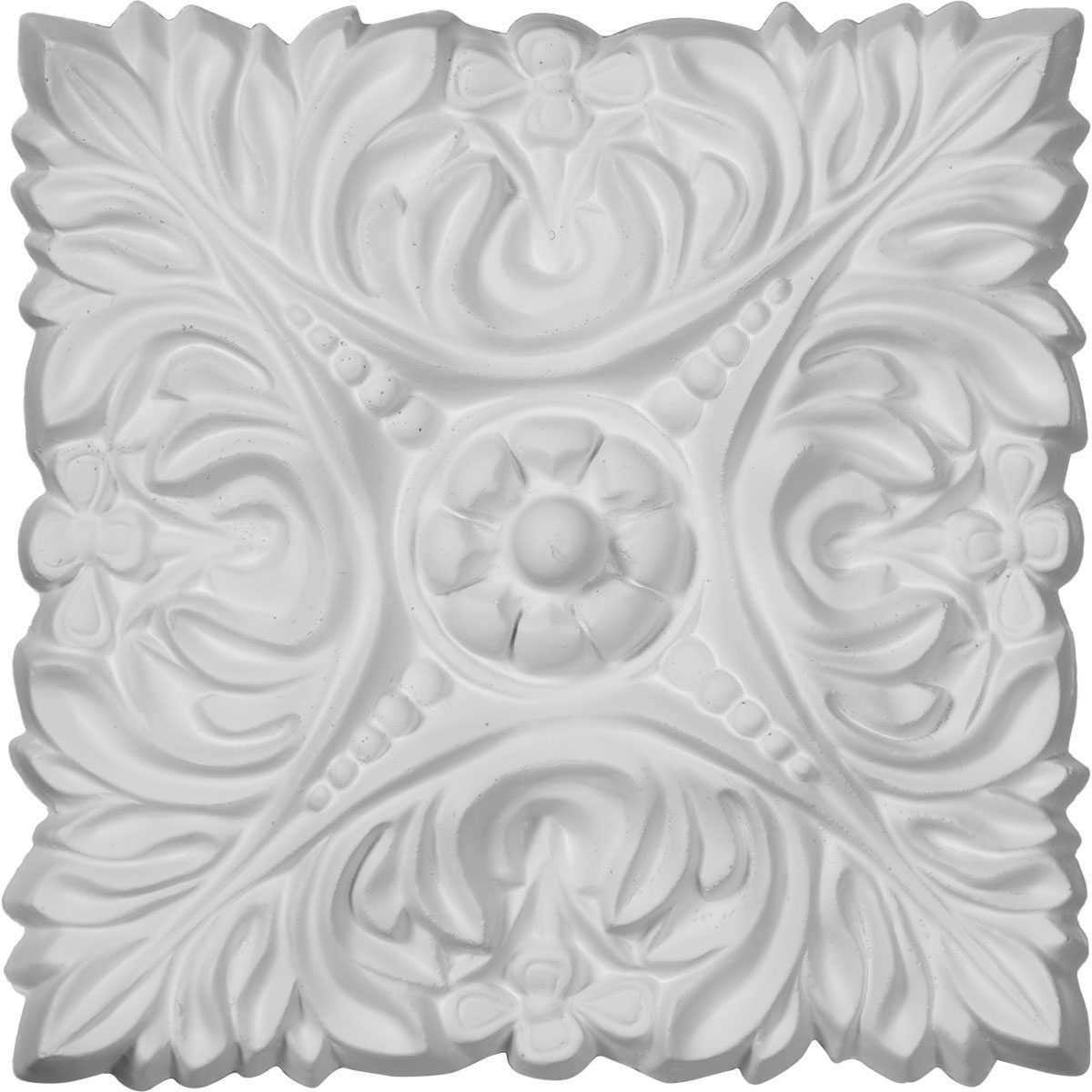 Ekena Millwork Acanthus 6 1/8''H x 6 1/8''W x 3/4''D Leaf with Beads Rosette