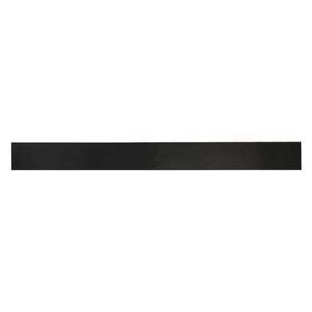 E. JAMES 3/4' Comm. Grade Neoprene Rubber Strip, 2'x36', Black, 50A, 6050-3/4X