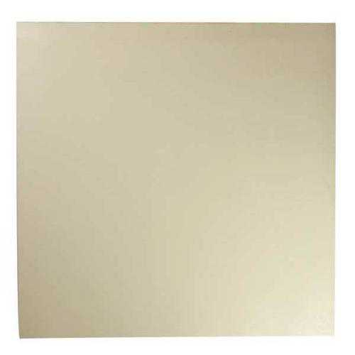E. JAMES 3/16' FDA Grade Neoprene Rubber Sheet, 12'x12', White, 50A, 380-3/16A