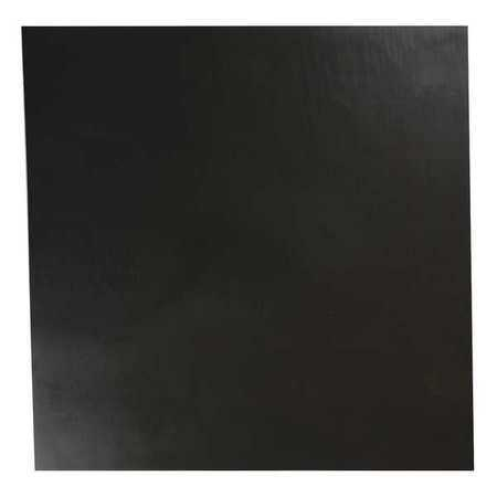 E. JAMES 3/8' Comm. Grade Neoprene Rubber Sheet, 12'x12', Black, 70A, 2080-3/8A