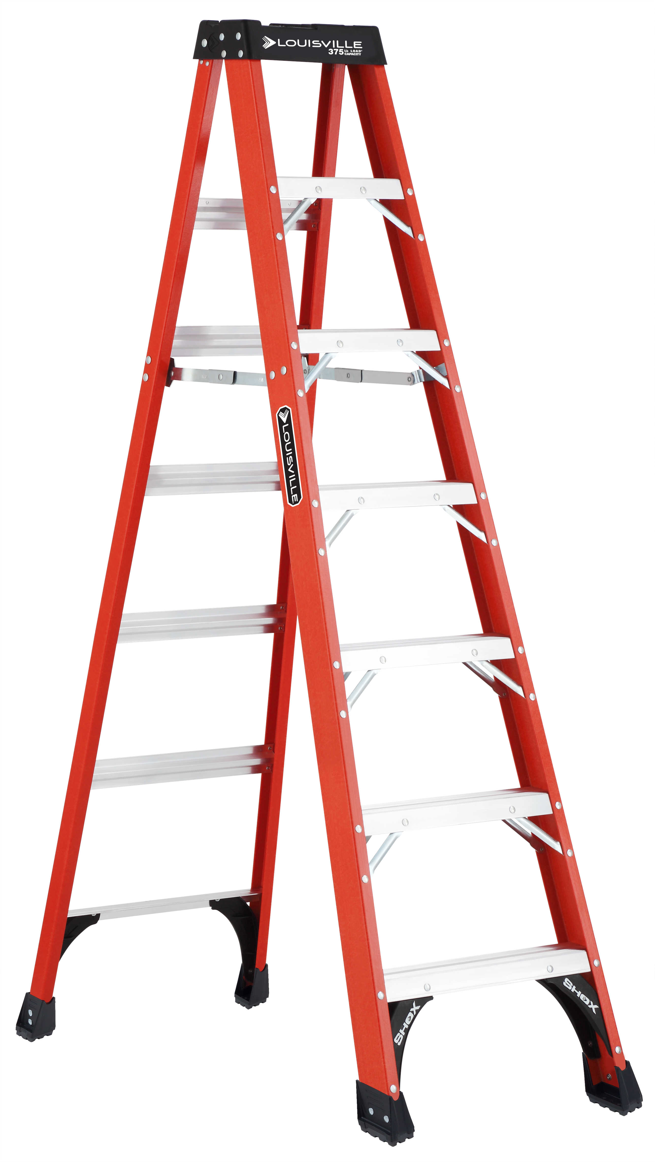 Louisville Ladder FS1407HD 7 ft. Fiberglass Heavy Duty Step Ladder, Type IAA, 375 Lbs Load Capacity