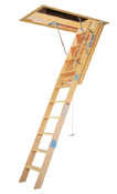Werner WH2510 10 ft. Heavy-Duty Wood Attic Ladder (54 in. x 25 in. Opening)