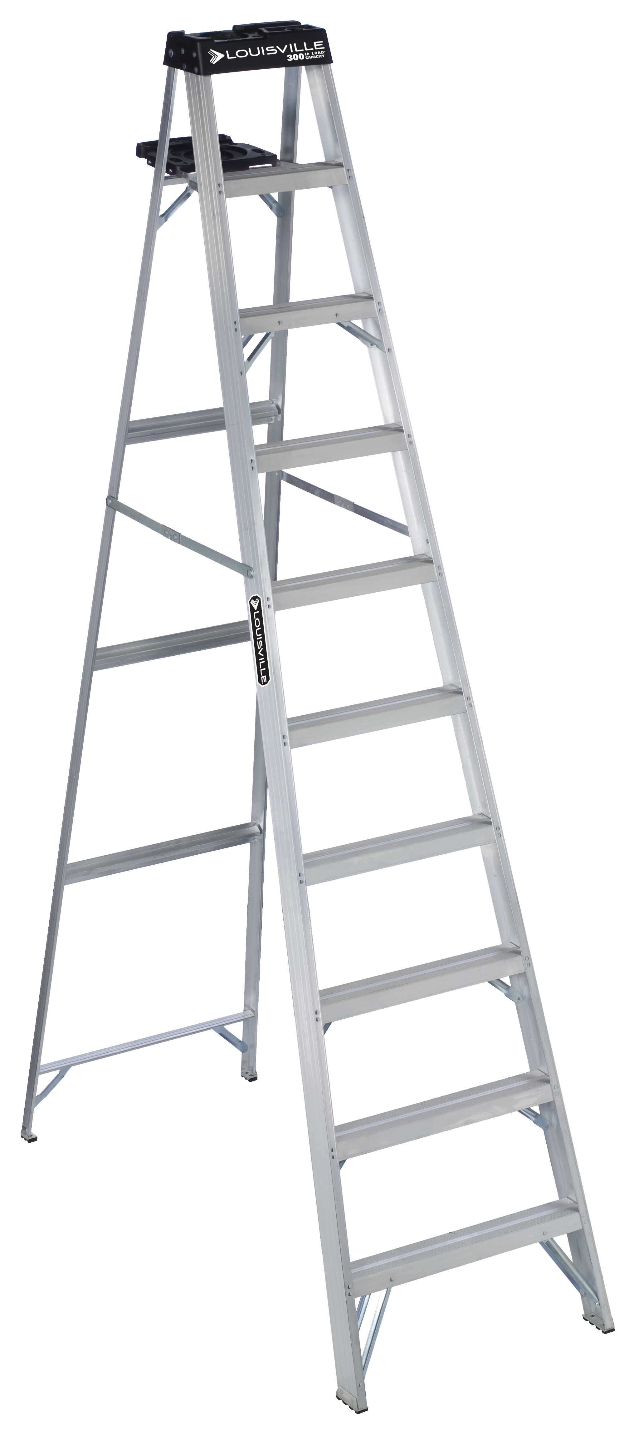 Louisville Ladder AS3010 10 ft. Aluminum Step Ladder, Type IA, 300 lbs. Load Capacity
