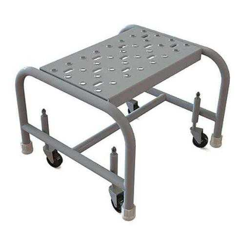 TRI-ARC WLSR001162 Mobile Step Stand,Steel,Serrated,16inW G0977965