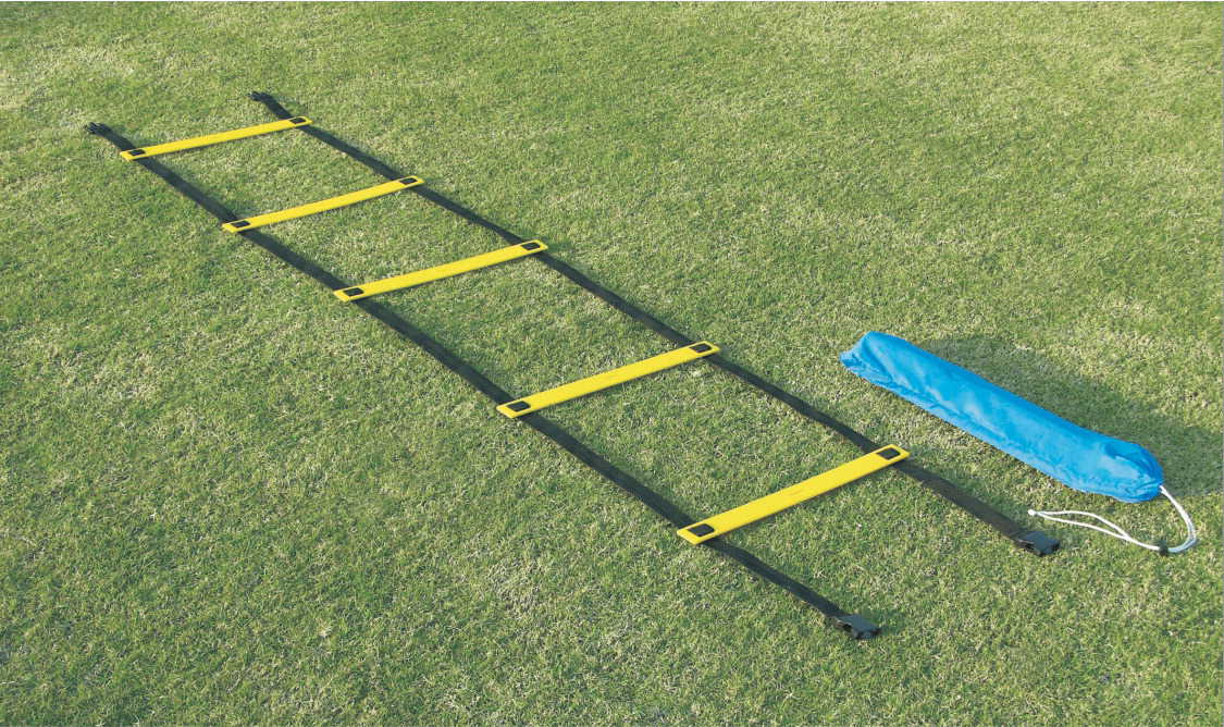 Sportime 29-1/2 ft x 16-1/2 in Agility Ladder Single Wide Rungs, Yellow/Black