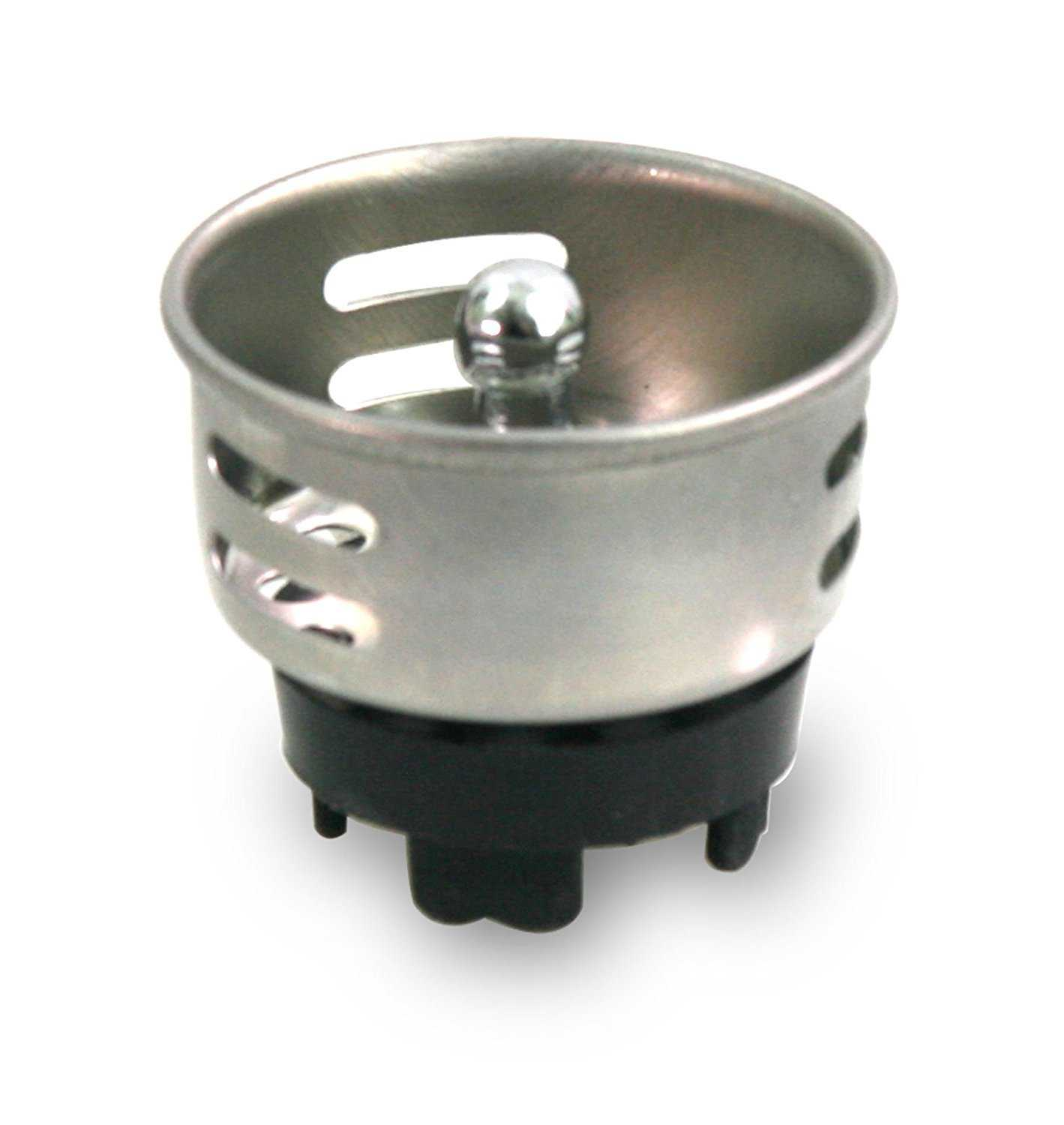 Everflow Stainless Steel Junior Duo Strainer / Stopper (1.5 inch) - Replacement Basket for Bar and Prep Sinks Drains…