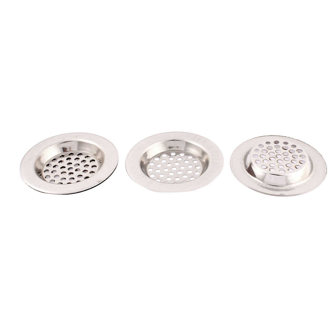 Unique Bargains Bathroom Stainless Steel Sink Strainer Floor Drain Filter Stopper 3 Inch Dia 4 Pcs