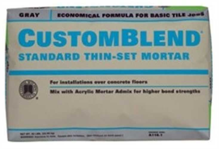 CustomBlend CBTSW50 Standard Thin?Set?Mortar, 50 lb, Bag, White, Powder