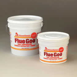 Homesaver Flue Goo Furnace/Refractory Cement Pre-Mixed 1-Gallon - Buff