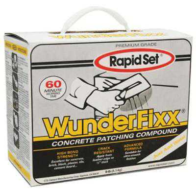9 LB Wunderfixx Concrete Patching Compound Is A Durable Fast Setting 1 Only One