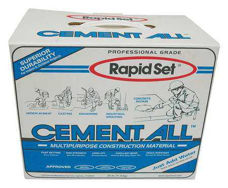 RAPID SET Concrete Resurfacing,25 lb Pack,Gray, GRA-RSCA-25