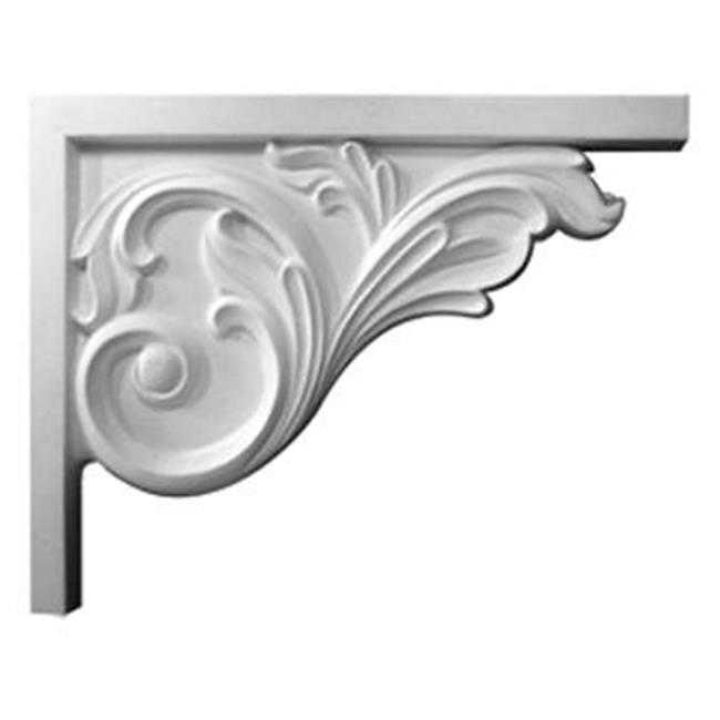8.75 In. W X 7.62 In. H X .62 In. D Architectural Bremen Acanthus Stair Bracket, Right