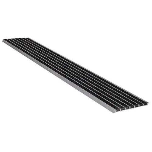 WOOSTER PRODUCTS 141BLA3 Safety Stair Nosing, Black, Extruded Alum