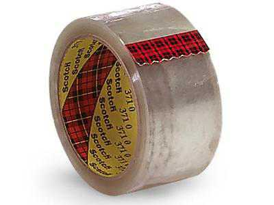 4 Unit Clear Shipping Tape 2'x55 yds3' Core - 3m Brand- Single Roll Unit pack 1
