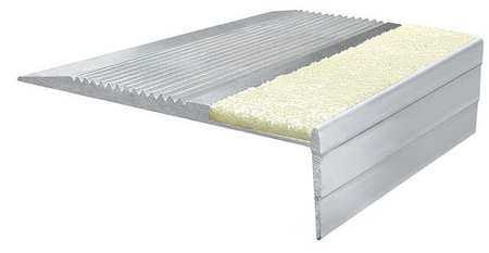 WOOSTER PRODUCTS 333NG3 Stair Tread, PL, Extruded Alum, 3 ft. W