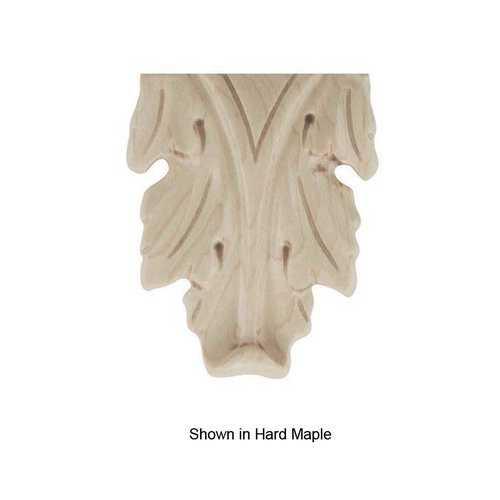 Brown Wood Medium Acanthus Onlay Unfinished Hard Maple 01912523HM1