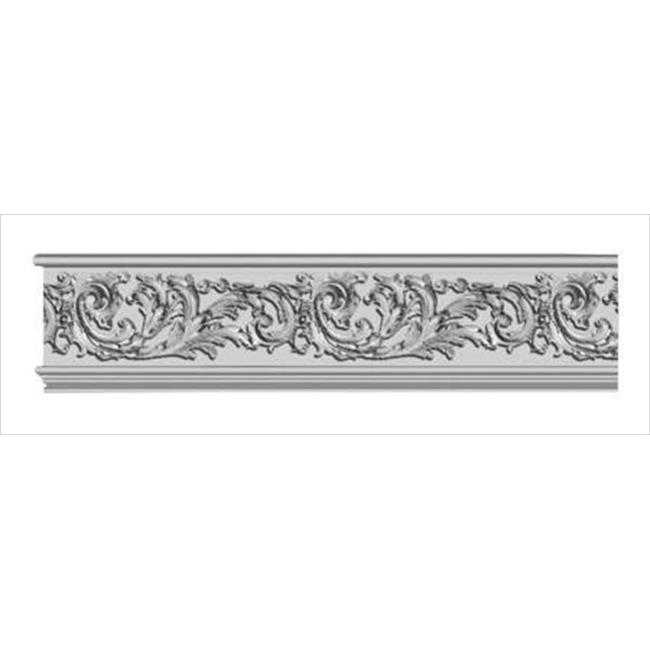 American Pro Decor 5APD10182 96 x 7.06 in. Floral Scroll Frieze Moulding