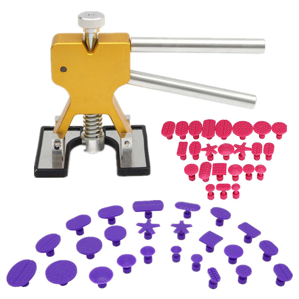 Tools Kit Professional Hand Tool Sets High Quality Car Paintless Dent Repair Tools Set Gold Dent Puller Glue Tabs
