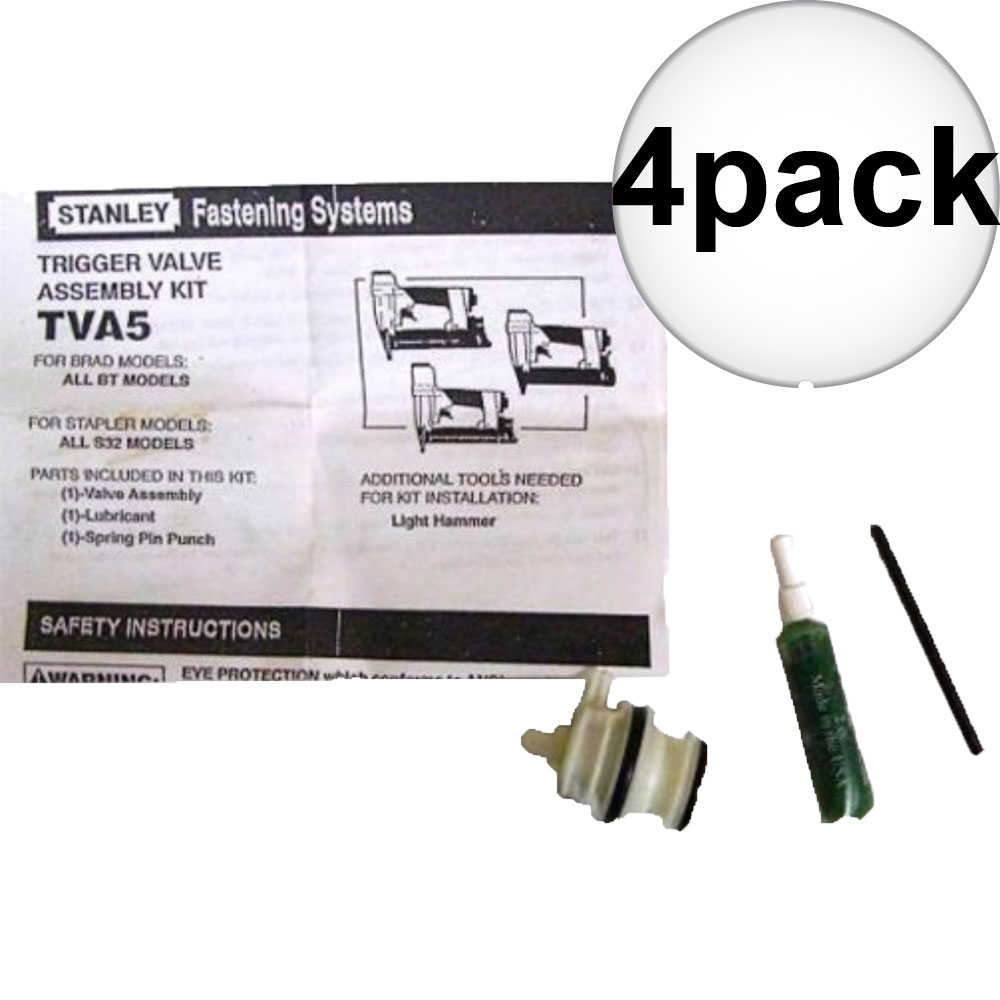 Bostitch TVA5 Trigger Valve Repair Kit for S32 and BT Nailers 4-Pack