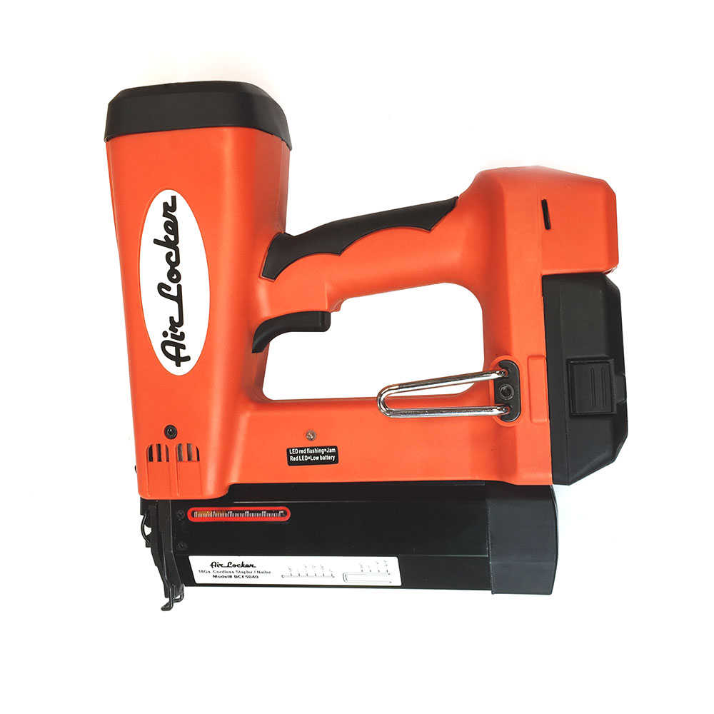 Cordless 18V, 18 Gauge, 1/4' Narrow Crown 'L' Wire Stapler, 18 Gauge 2' Long Brad Nailer