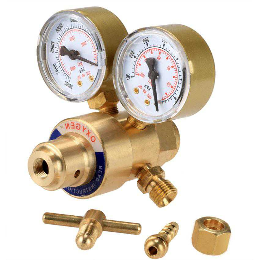 Oxygen Gas Welding Brass Regulator Pressure Gauge CYBST