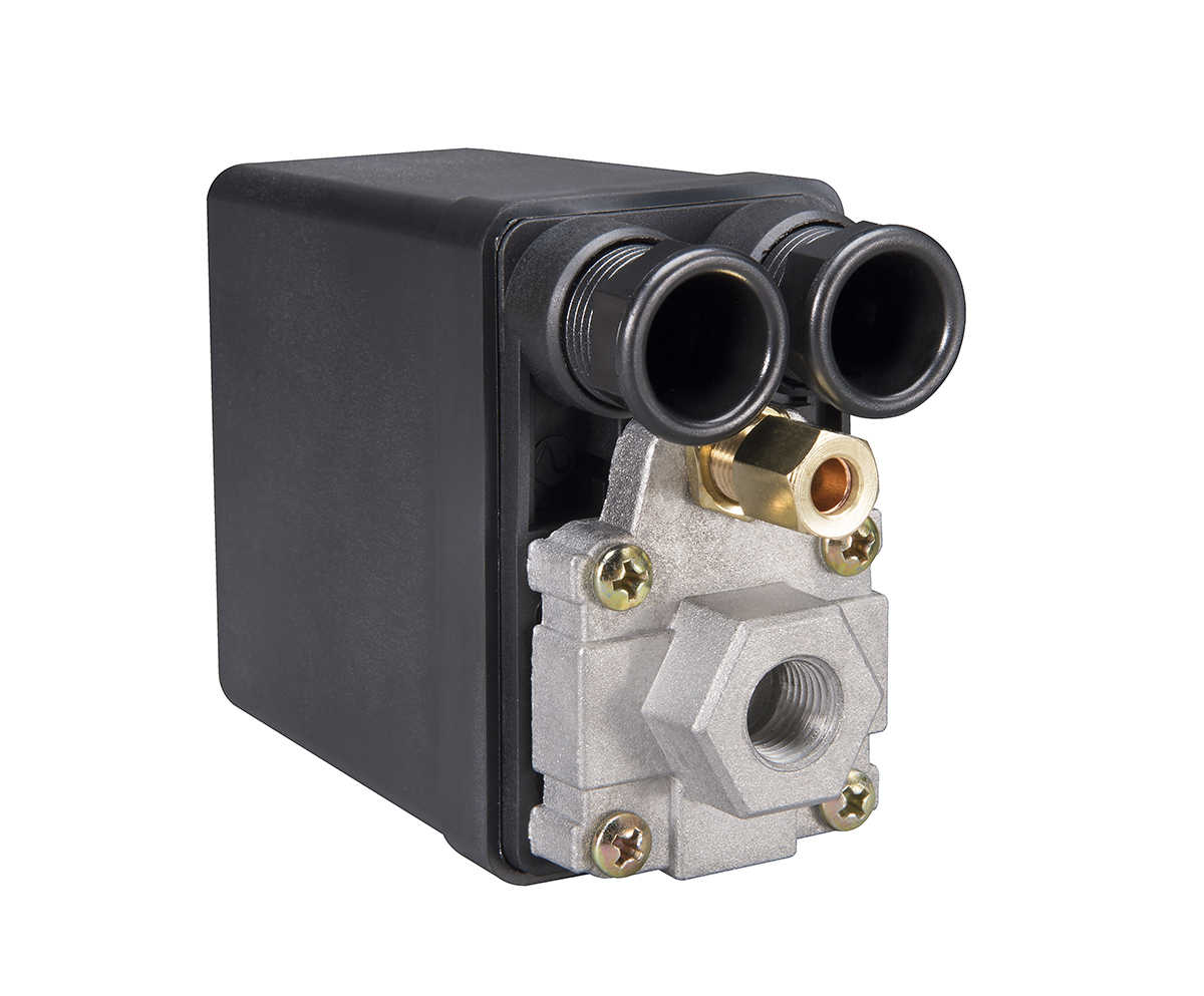 Phoenix Pressure Control PM1VAA 90/120 PSI 1-Port Air Compressor Switch with Unloader Valve and Auto/Off (NE-MA type)