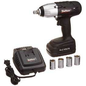 TruePower 300 ft.lbs. 1/2' Drive Cordless Impact Wrench Kit 19.2V