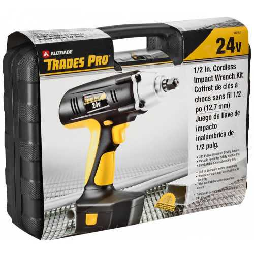 Trades Pro 837212 1/2 Inch 24 Volt Cordless Impact Wrench Kit
