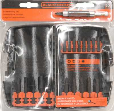 BLACK+DECKER 20-Piece Impact Set
