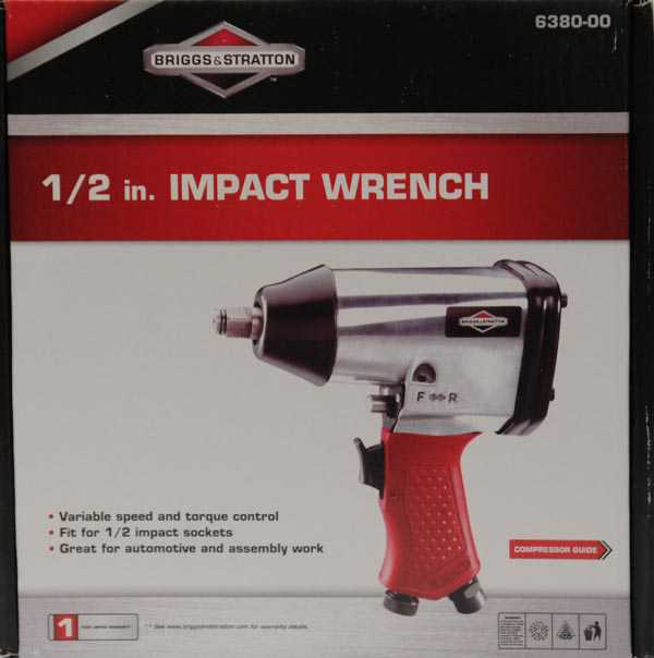 Briggs & Stratton 1 1/2 in. Square Drive Pneumatic Impact Wrench
