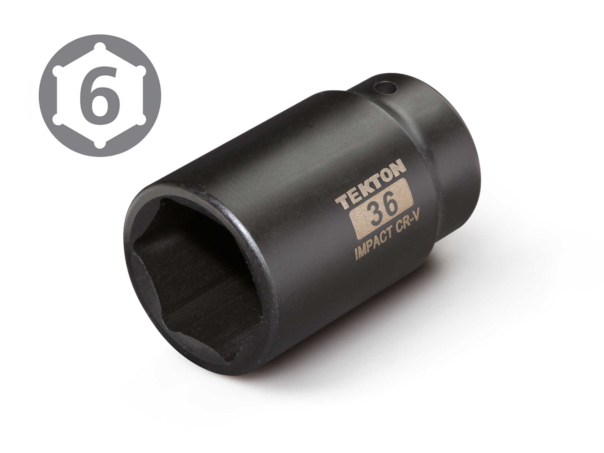 TEKTON 1/2-Inch Drive by 36 mm Deep Impact Socket, 6-Point | 4936