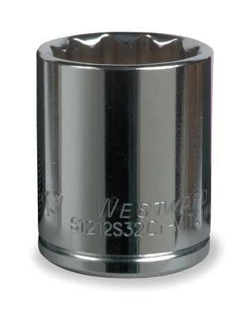 Westward 1/2' Drive, 1-1/2', Socket, Standard Length, Chrome Vanadium, 5MV28