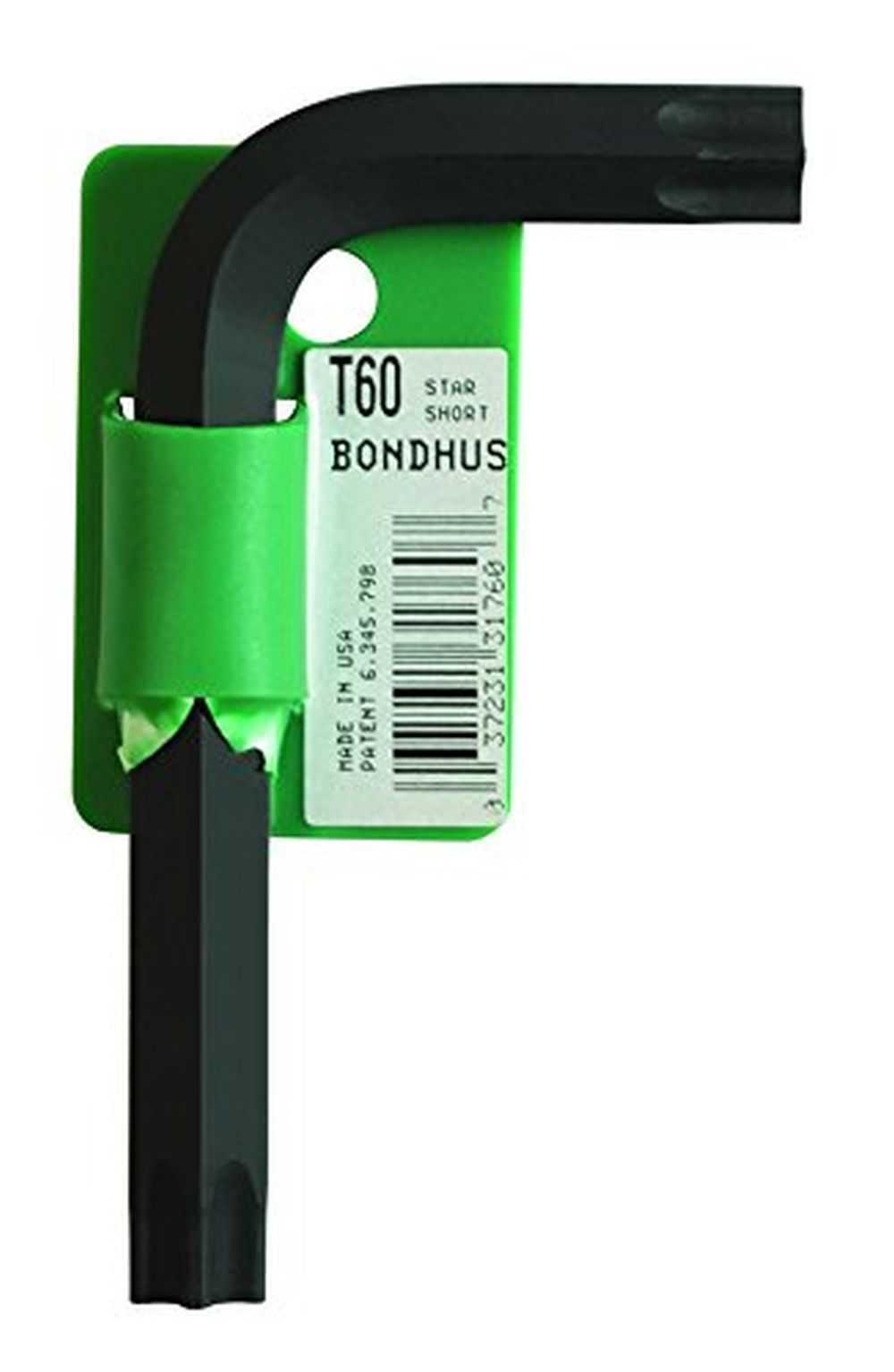 Bondhus 31760 Tagged & Barcoded T60 Star Tip Hex Key L-Wrench, 3.7'