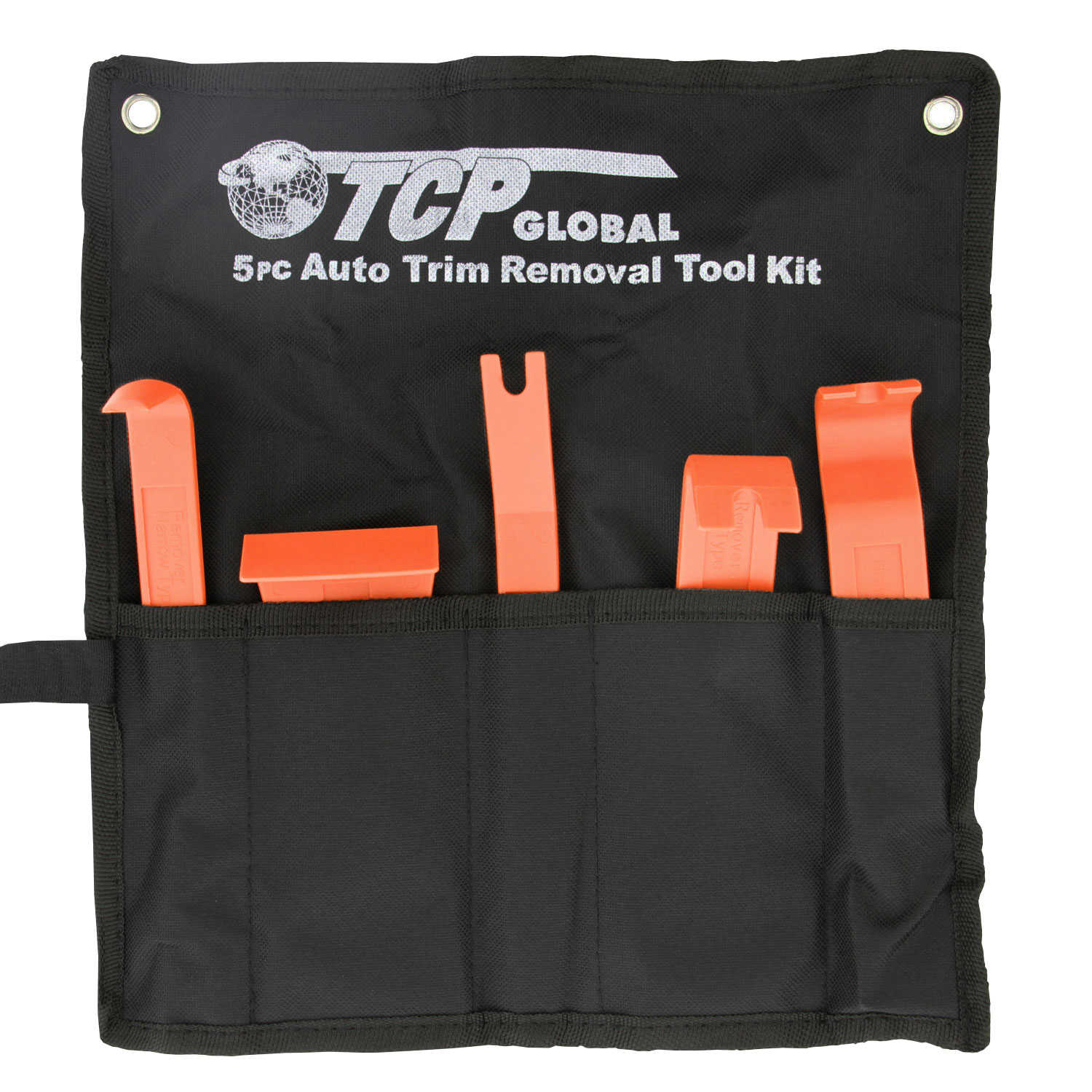 5 Piece Auto Trim Removal Tool Kit - Specialty Tools For Installing and Removing Fasteners, Trims, Molding & Panels