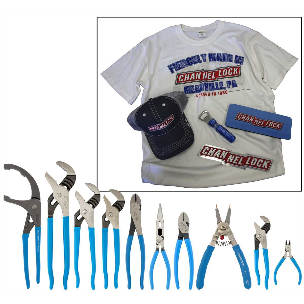 10Pc Channellock Plier Assortment