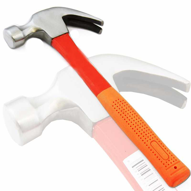 Stark 16 OZ Curved Claw Hammer with Fiberglass Handle Ripping Nails Non Slip Grips