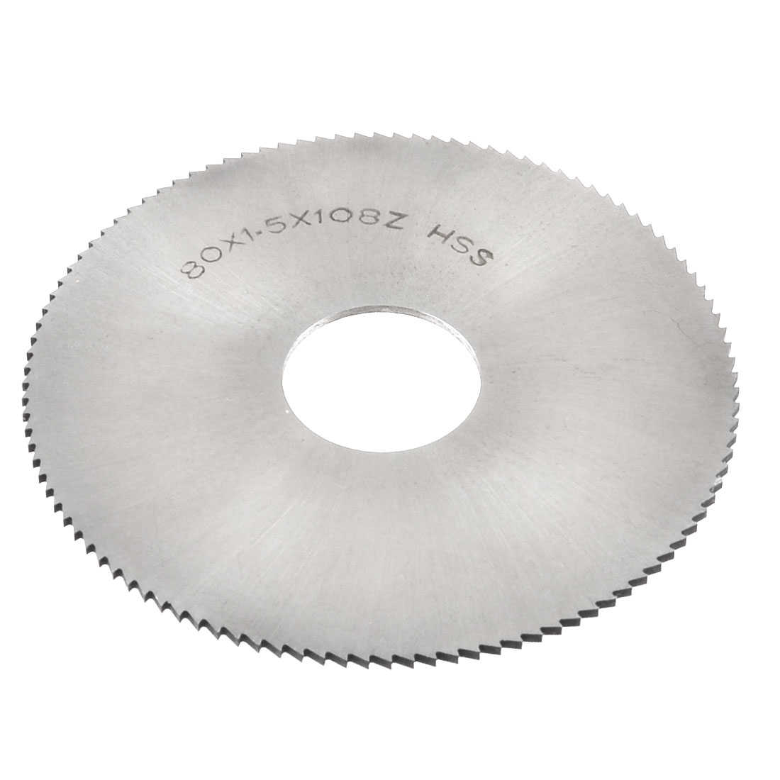 80mm x 1.5mm x 22mm 108 Tooth HSS Round Groove Slotting Cutter Silver Tone