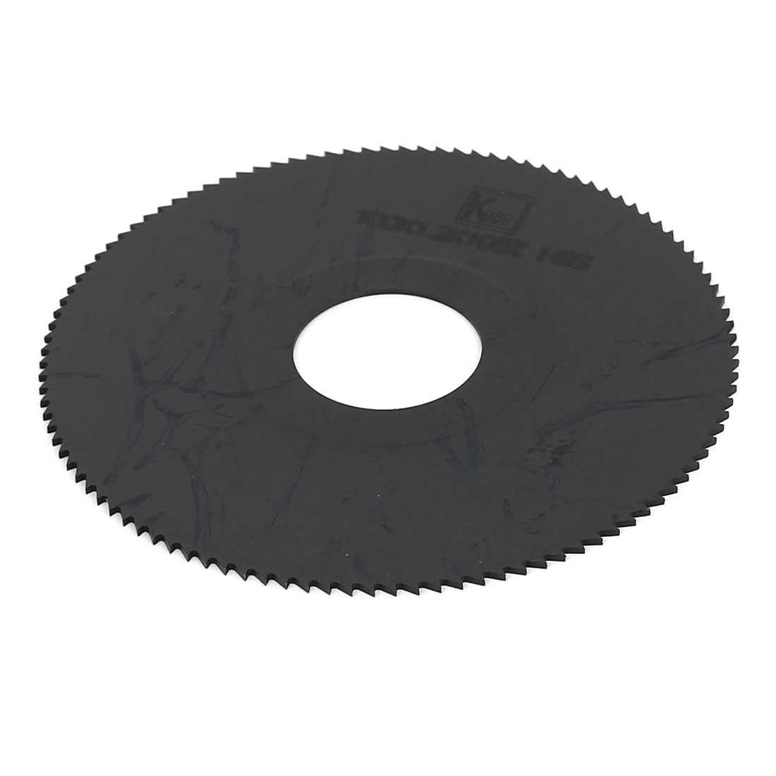HSS 100mm x 1.2mm x 27mm 108T Teeth Round Cutting Disc Slitting Saw Blade Black