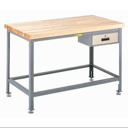 LITTLE GIANT WT2436-LL-DR Workbench, Maple, Top, w/drwr 24x36