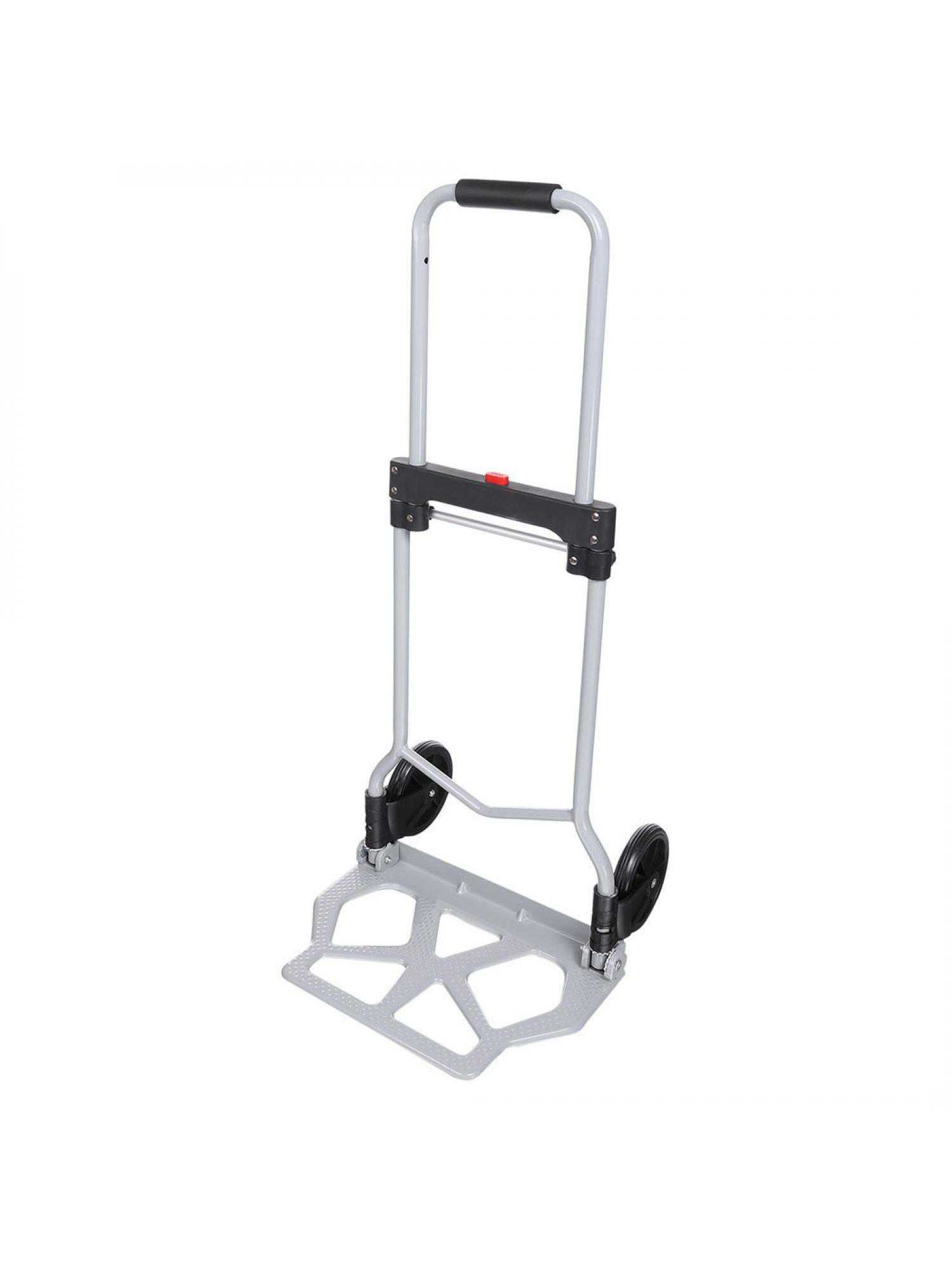 Heavy Duty Industrial Cargo handling/Travel/Shopping Hand Truck Cart Folding Luggage cart 220lbs Yallstore