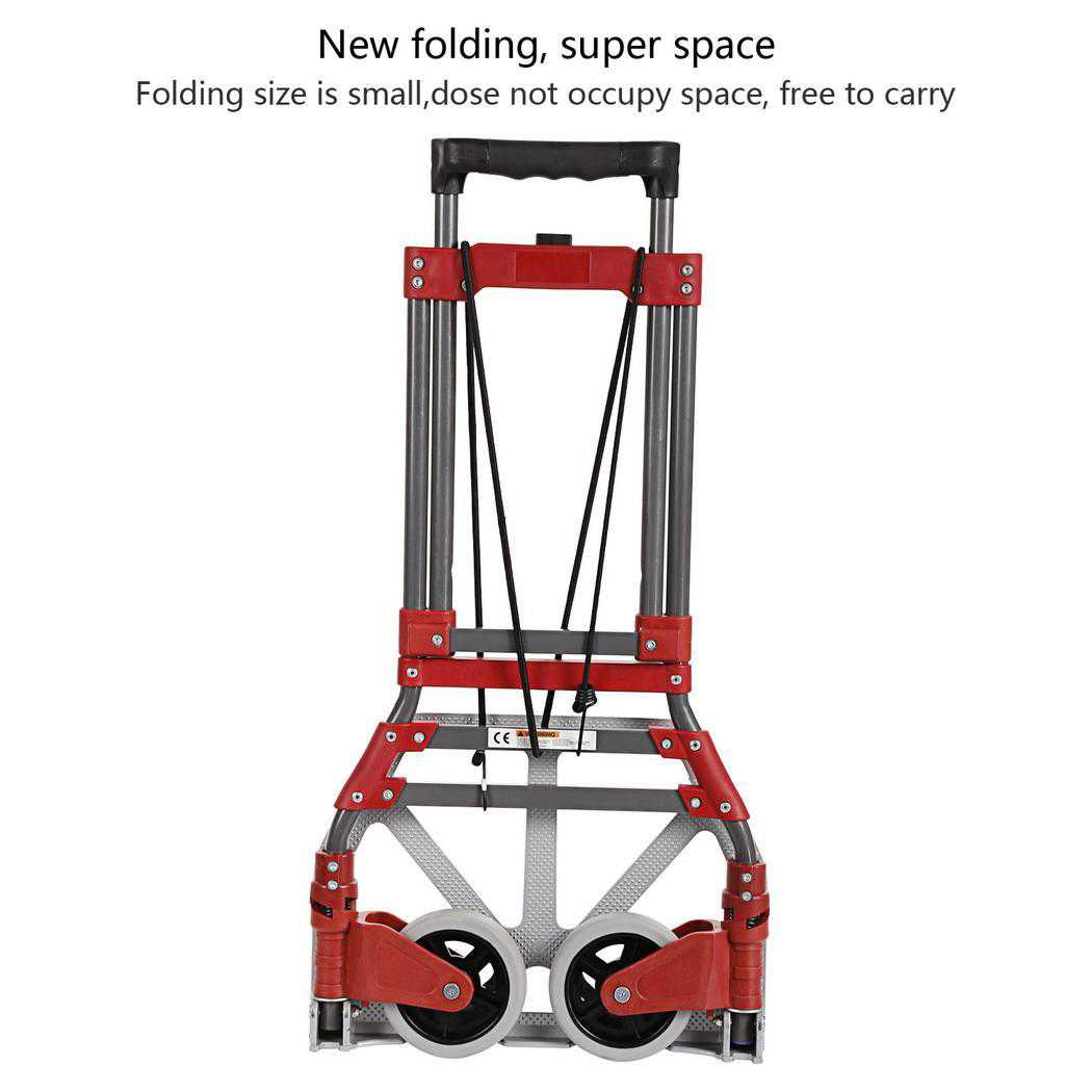 Aluminum Alloy Folding Dolly Hand Truck,165 lbs Capacity BEDYDS