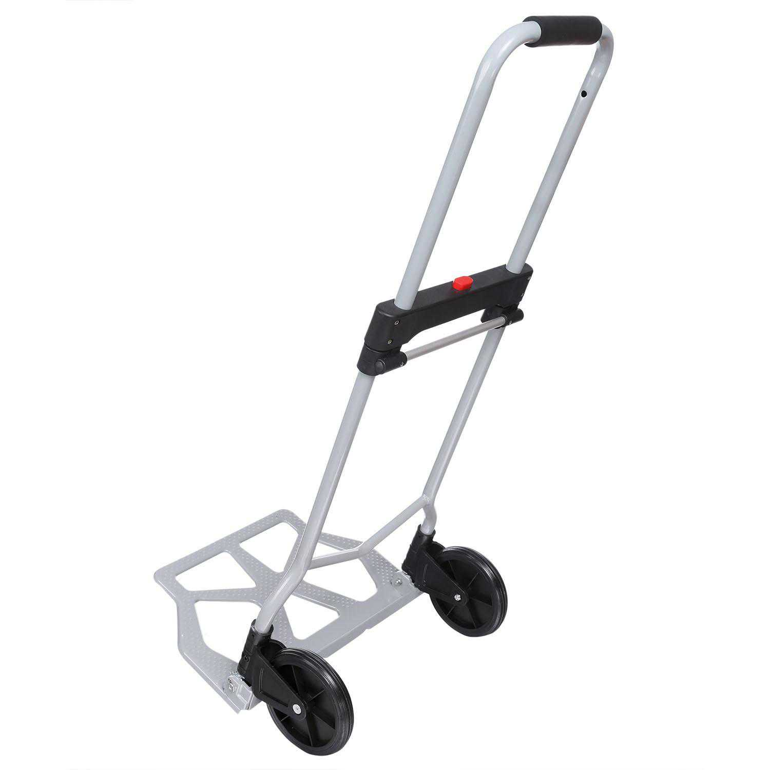 Folding Hand Truck Traveling Shopping Porta Industrial Cargo Dolly Luggage Carts 220 lbs Capacity