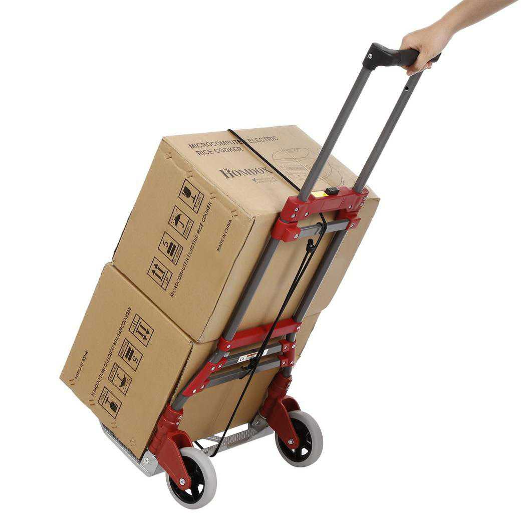 Aluminum Alloy Folding Dolly Hand Truck,165 lbs Capacity WCYE